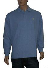 Polo Ralph Lauren Teal Blue Small Pony Mesh Langarm Poloshirt Gr.L