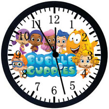 Bubble Guppies Black Frame Wall Clock Nice For Decor or Gifts E299