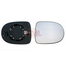 RENAULT CLIO 2009->2011 DOOR MIRROR GLASS SILVER CONVEX,HEATED &BASE,RIGHT SIDE