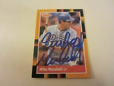 Mike Marshall Autographed 1988 Donruss Baseball's Best #178 Card MLB Dodgers