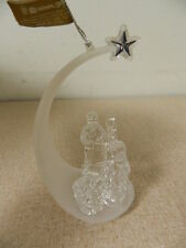 Roman Christmas Nativity Figurine Ornament Frosted & Clear Acrylic New w/ Tag