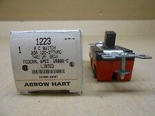 1 NIB ARROW HART AH1223 1223 A/C SWITCH 20A 120/277V 3W 20 AMP 120 VOLT 3 WAY