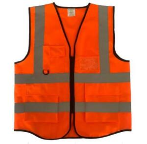 safety vest Reflective Vest Working Clothes for Outdoor sports hiking etc orange