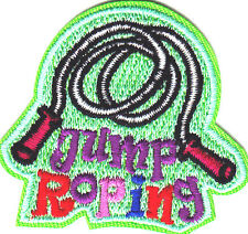 """""""JUMP ROPING"""" PATCH/Iron On Embroidered Applique-Sports, Games, Players, Compete"""