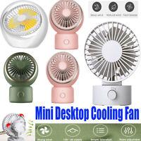 Mini Desktop Cooling Fan Home USB Rechargeable Oscillating Personal Cooler Fan