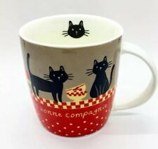 Unique Vintage Derriere la Porte Cat Mug/Cup, 10 oz