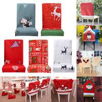 Christmas Stuhlhussen Stuhlbezug Stuhlüberzug Stretchhussen Weihnachten Party