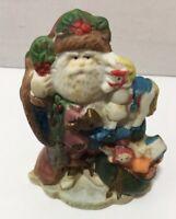 "RSVP 1991 Santa's Of The Nations Hand Painted Figurine England Christmas Box 4"""