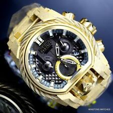 Invicta Reserve Bolt Zeus Magnum Sandblasted Steel 52mm Gold Tone Watch New