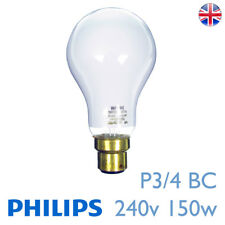 P3/4-BC 240 V 150 W B22d PHILIPS PF605B PHOTOCRESCENTA Agrandisseur Ampoule Lampe P3 4 BC