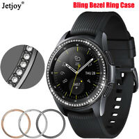 For Samsung Galaxy Watch 46mm 42mm Bling Metal Bezel Styling Ring Adhesive Case