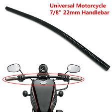 """Black 7/8"""" 22mm Motorcycle Handlebar Drag Straight Bar For Honda Chopper Bobber"""