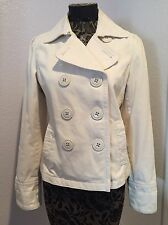 American Eagle Outfitters Winter White Peacoat Jacket Medium