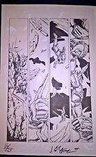 Armorines #3 Page 1 Original Ink art Jim Calafiore & Rod Ramos Valiant Comics