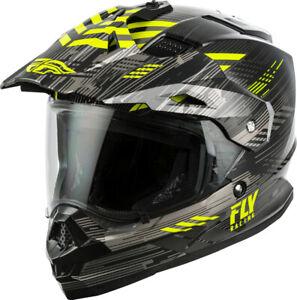 Fly Racing Trekker Quantum Helmet (2X-Large, Black/Grey/Hi-Vis)
