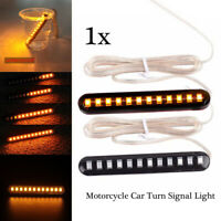 Sequential Flowing 12LED Strip Motorcycle Car Turn Signal Light Waterproof 12V