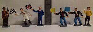 Original 1960s Corgi Toys 1503 Silverstone Track Officials figures FULL SET OF 6