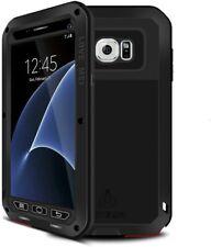 Coque étanche Love Mei Aluminium noir Antichoc/poussière Galaxy S7 Edge