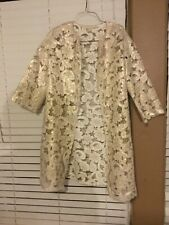 H&M lace cut gold embroidered cardigan jacket blouse top