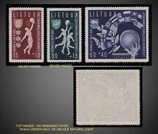 1939 LITHUANIA SEMI POSTAL EUROPEAN BASKETBALL CHAMPIONSHIPS NH + LITTLE HINGED