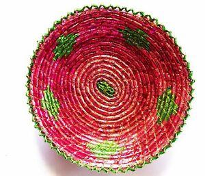 "12"" Inches Hand Woven Southwestern Design Handmade Display Basket Brbsf-165"
