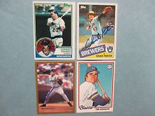 GORMAN   THOMAS/BOB  WICKMAN/TIM  JOHNSON/CHUCK  PORTER   Brewers  Signed Cards