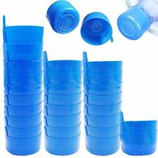 30 Pack Non Spill Caps Reusable 55mm 3 And 5 Gallon Water Bottle Snap On Cap New