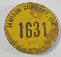 Vintage Jamison Company Inc Employee ID 1631 Pinback Button Badge