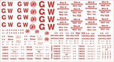 MODELMASTERS 4MM SCALE RED GWR LETTERING FOR INSULATED VANS REF GW303