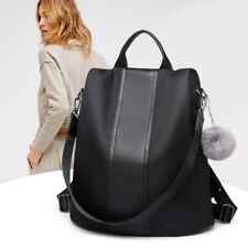 Ladies Rucksack Anti-theft Shoulder Bag Women Nylon Pompom Backpack Handbag 0f70ed07c2