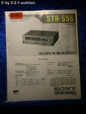 Sony Service Manual STR S5S FM/AM Receiver (#4690)