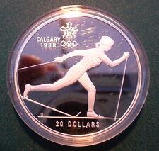 CANADA $20 CALGARY WINTER OLYMPIC 1988 Proof  No 5