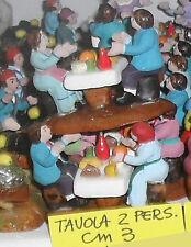 PRESEPE GRUPPO 3 CM  TERRACOTTA ,  pastore TAVOLA 2 PERSONE shepherds