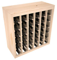 36 Bottle Ponderosa Pine Cabinet-Style Wine Rack Kit. Hand Crafted in the USA.