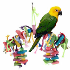 New listing Medium Small Bird Parrot Conure Wood Toy Swing Chewing Playground Gym