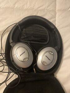 Bose Acoustic Noise Cancelling Headphones Quiet Comfort 15 Good Condition