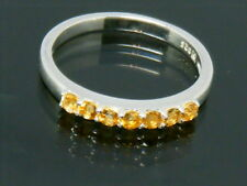 925 Solid Silver Natural Citrine Eternity ring size N