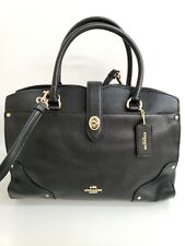 NEW Coach Mercer Satchel Black Grain Leather Ladies Handbag 37575