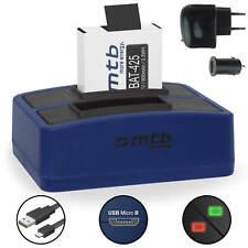 Dual-Ladegerät + Akku für Rollei Actioncam AC 510, 525, 610, 625