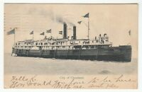 "[63583] 1905 POSTCARD STEAMER ""CITY OF CLEVELAND"" (UNDIVIDED BACK)"