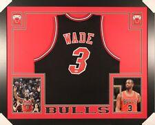 Dwyane Wade Signed Chicago Bulls 35x43 Custom Framed Jersey (PSA)