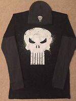 THE PUNISHER Skull COMIC Book movie MARVEL MEN'S Long Sleeve t-SHIRT & HAT Cap