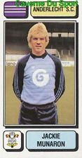 008 JACKIE MUNARON BELGIQUE ANDERLECHT.SC STICKER FOOTBALL 1983 PANINI