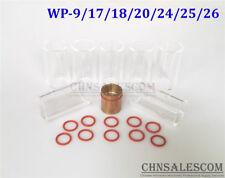 18 pcs TIG Welding Gas Len Pyrex Glass Cup Kit WP-9/17/18/20/24/25/26 Weld Torch