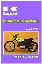 KAWASAKI Workshop Manual F5 & F5-A 1970 & 1971 Maintenance Service & Repair