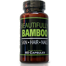 Beautifully Bamboo Hair Skin & Nails-Hair Vitamin Capusles + Bamboo Silica