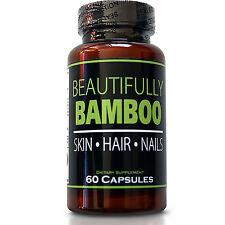 Beautifully Bamboo Hair Skin & Nails-Hair Vitamin Capusles + Bamboo Silica