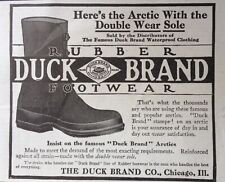 1913 AD.(XC12)~THE DUCK BRAND CO. CHICAGO. DUCK BRAND RUBBER FOOTWEAR~
