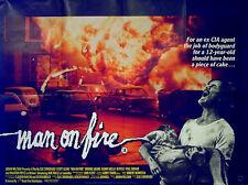 MAN ON FIRE 1987 Scott Glenn Joe Pesci Brooke Adams Jonathan Pryce QUAD POSTER