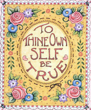 Shakespeare Hamlet-Be True-Handcrafted Magnet-Using art by Mary Engelbreit